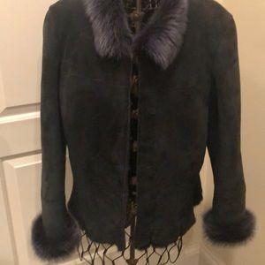 Elie Tahari 100% lamb shearling coat